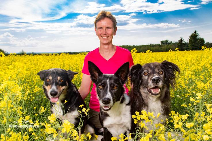 portrait in canola field